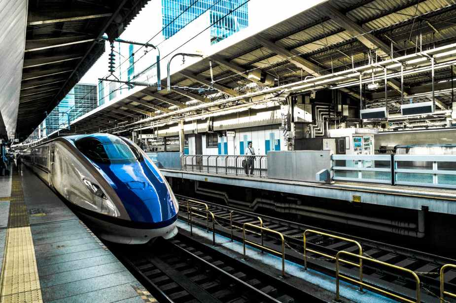 bullet train locomotive platform public transportation